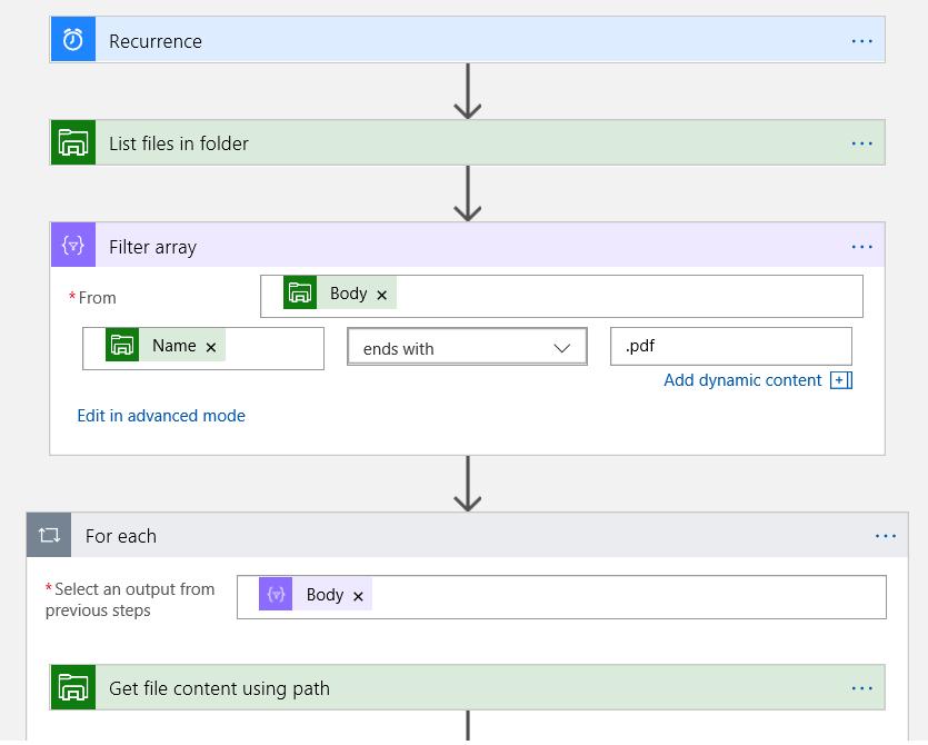 Logic Apps Filter Array For-Each Pattern